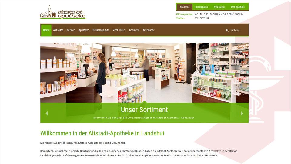 Altstadt Apotheke Landshut - Homepage