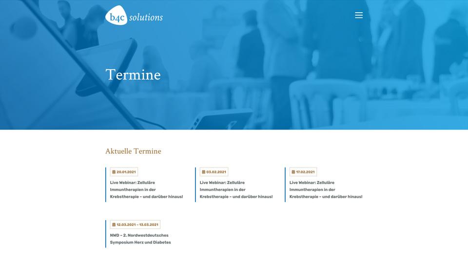 b4c solutions - Relaunch Webdesign