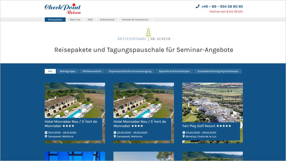 Checkpoint Reisen - Homepage
