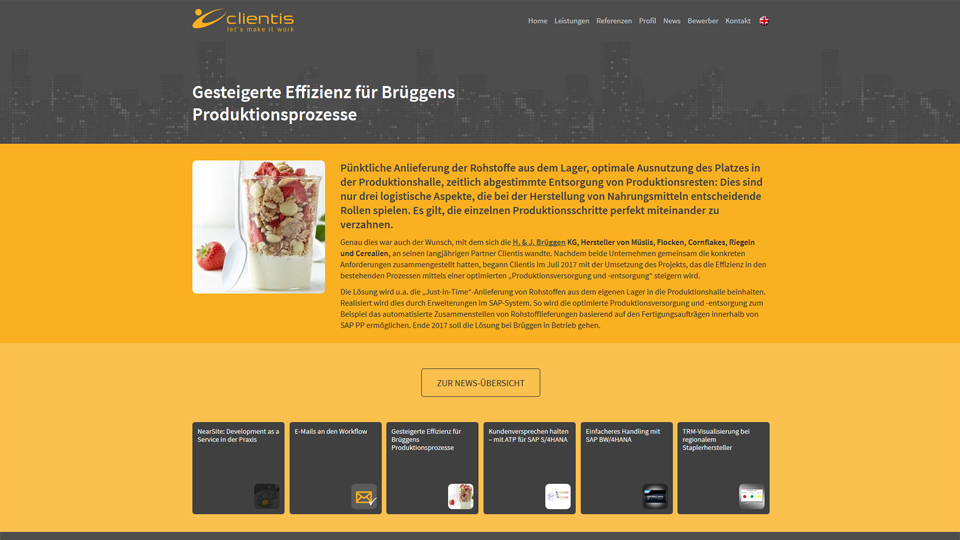 Clientis AG - Homepage
