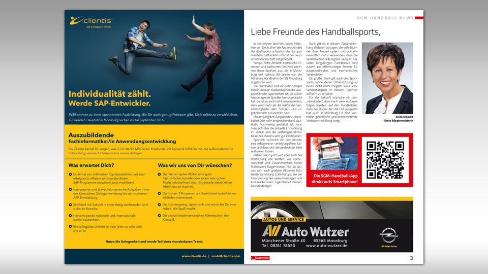 "Magazin ""Handballer"" - Layout & Redaktion"