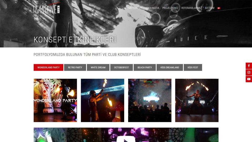 Imagine Event - Homepage