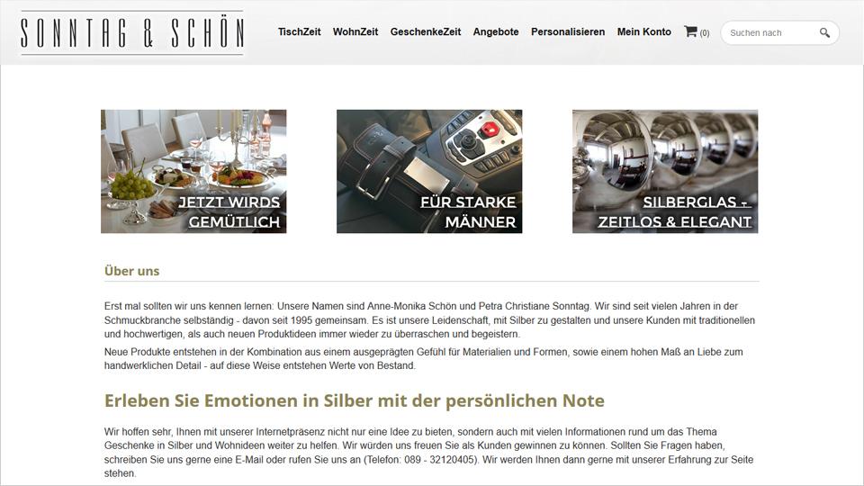 Sonntag & Schön - Webshop
